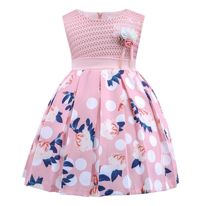 480cd734a94e 2019 Birthday Baby Dresses Infant Toddler Newborn Clothes Christmas Tutu  Dresses For Girls Flowers Brooch Decoration Princess Dress From Bradle