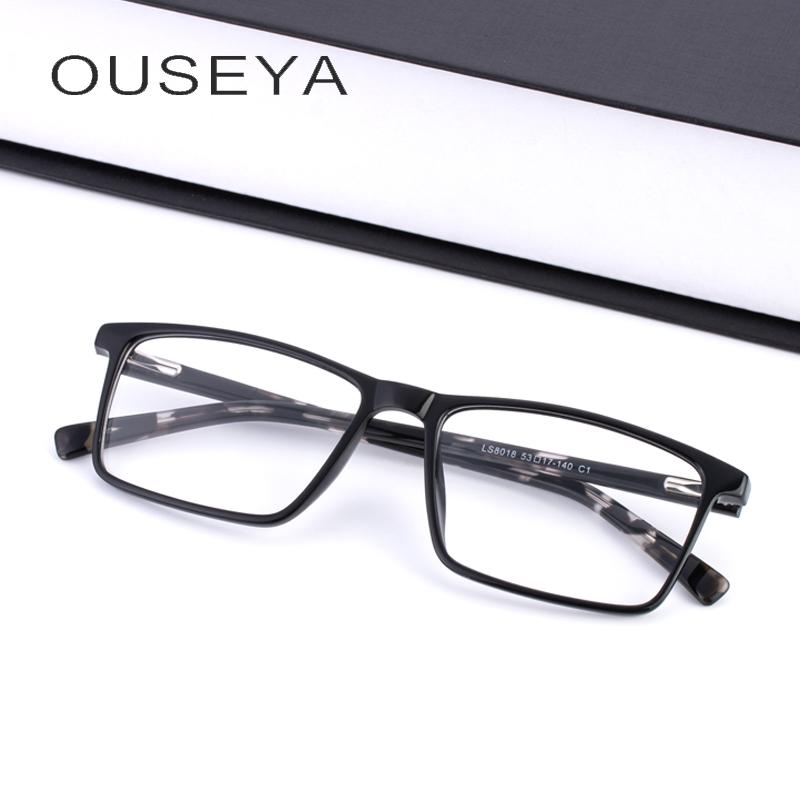 1ac0fce09 Compre TR90 Óculos Homens Quadro Quadrado Claro Óptico Miopia Prescrição  Armações De Óculos # LS8018 De Sara001, $42.6 | Pt.Dhgate.Com