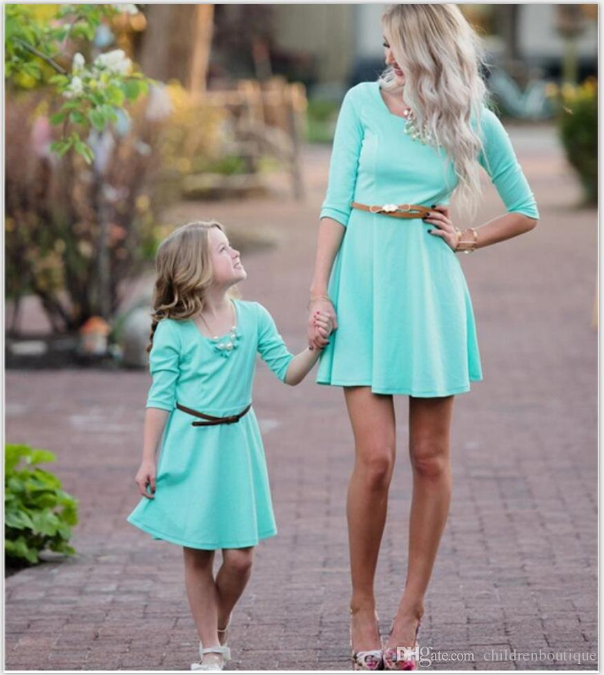 855566843be02 Mommy And Me Dress Family Matching Clothes Mother And Daughter Dresses  Family Look Half Sleeve Floral Printing Tutu Dresses Outfits 2Styles  Matching Family ...