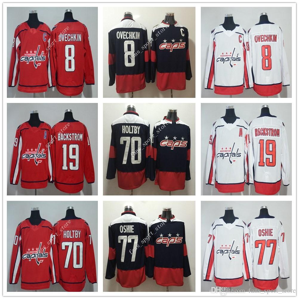 2018 AD New Season Washington Capitals  8 Alex Ovechkin Jersey Red ... 5f92dbf79