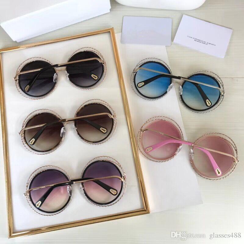 7dea309d195 Top Brand Designer Sunglasses Round High Quality Fashion Sunglasses ...