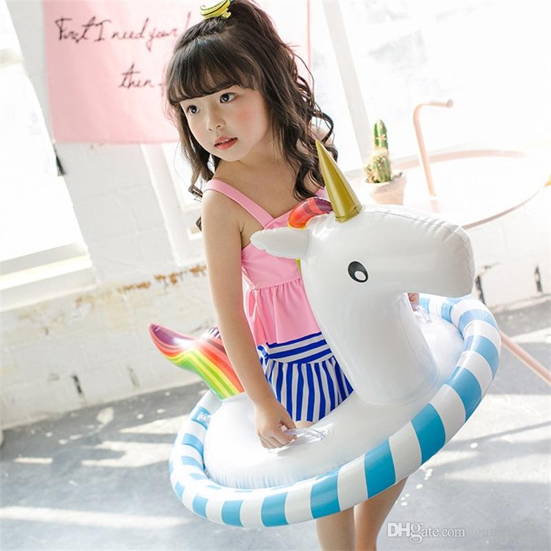 Originality Unicorn Water Games Inflatable Toy Floats Summer Children Large Swimming Circle Funny Game Beach Animal Yacht 27ws W