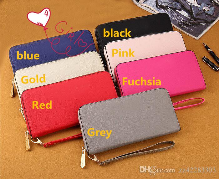 New Nice Brand Designer Women Leather Wallets Wristlet Clutch Bags Zipper  Bags Online with  14.38 Piece on Zz42283303 s Store  76904c665