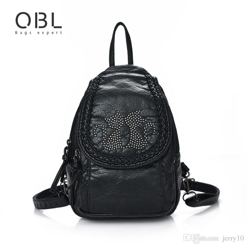 Mini Small Backpack Women Bag Black Travel School Bags Teenage Girls Female  Mochilas Mujer Feminina Sac a Dos Femme W672 Online with  14.61 Piece on ... 0565df23cc6a3