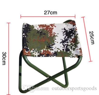 High quality outdoor camouflage folding stool chair camping travel tools fishing recreational activities