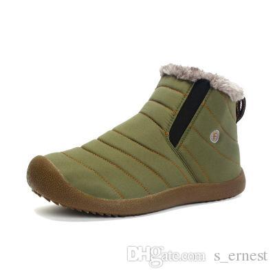 Erkekler Kış Kar Ayakkabıları Hafif Ayak Bileği Çizmeler Sıcak Su Geçirmez Botas Erkek Yağmur Çizmeleri 2016 Yeni Kürklü Patik Erkekler Için Ayakkabı C # 002