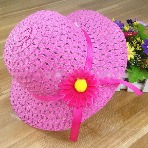 Kinder Kappe Sonnenhut Handtasche Set Visier Baby Mädchen Blumenband Stroh Kappe Tote Kinder Sommer Strand zweiteilige Tasche Hut Sunbonnet Taschen Anzug