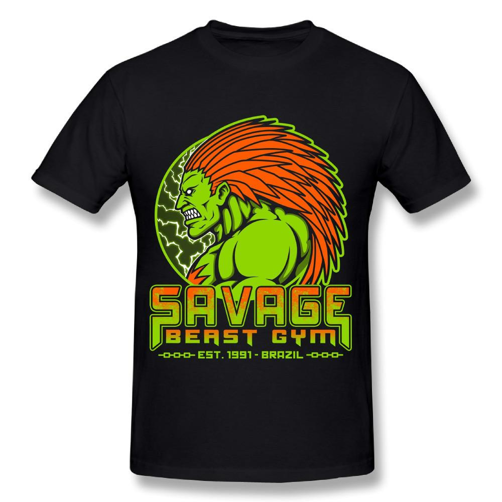 New Design Men Savage Beast street fighter Nice T-Shirt Fashionable Pure