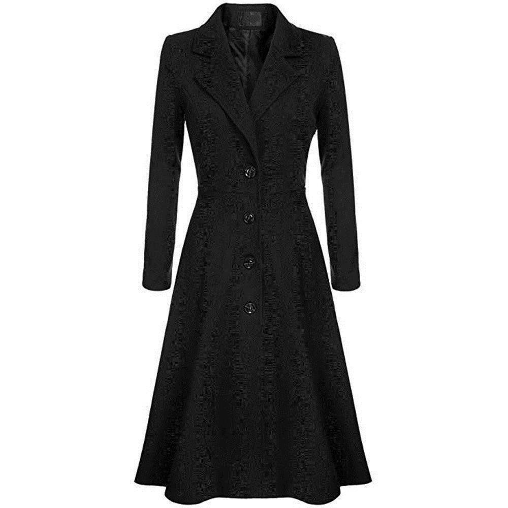 Compre 2019 NUEVO Vintage Swing Trench Abrigos Mujeres Otoño Invierno  Cazadora Elegante Oficina Señora Moda Inglaterra Estilo Abrigos Casual  Abrigo Largo A ... 78a75282f726