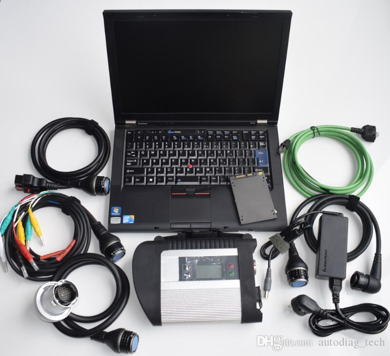 Scanner de diagnostic Sd C4 avec l'ordinateur portable T410 de V12 / 2018 pour les outils de diagnostic de voitures et camions B / enz