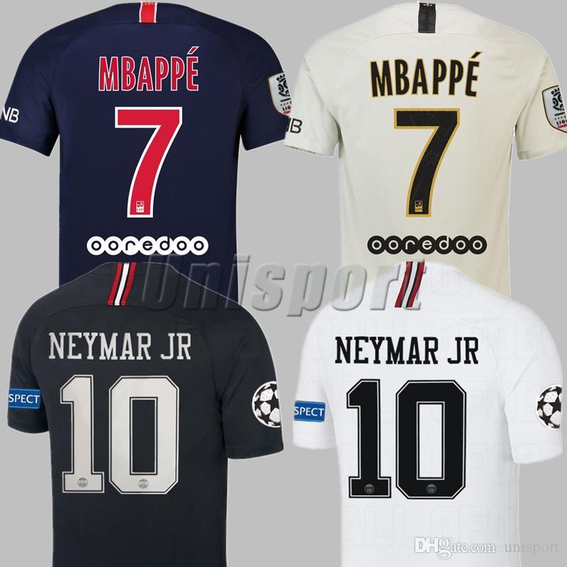2019 2018 19 Psg Champions League Soccer Jerseys Neymars Jr Mbappe Cavani Futbol  Camisetas Football Germain Shirts Saint Kit Paris Maillot Camisa From ... 74489d133