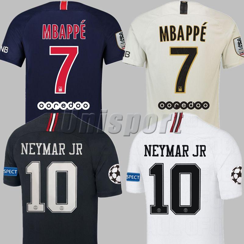 2018/19 Psg Liga De Campeones Camisetas De Fútbol Neymars Jr Mbappe Cavani Futbol Camisetas ...