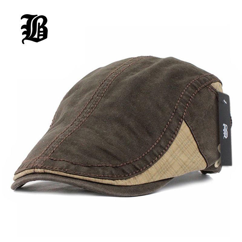 71081e334d0 FLB Cotton Gorras Planas Male Beret Vintage Boinas Flat Cap for Men And  Women Casquette Sun Flat Cabbie Newsboy Hat Visors Online with  13.0 Piece  on ...