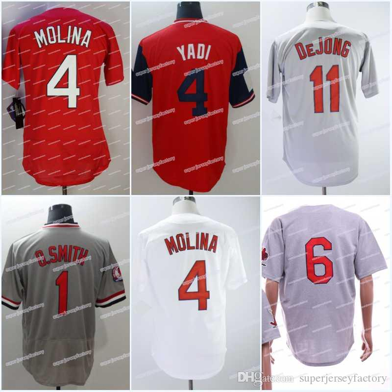 official photos 63760 8a21f Men 4 Yadier Molina Baseball Jersey 11 Paul DeJong 1 Ozzie Smith 41 Tyler O  Neill 28 Tommy Pham 2018 Players Weekend Jerseys