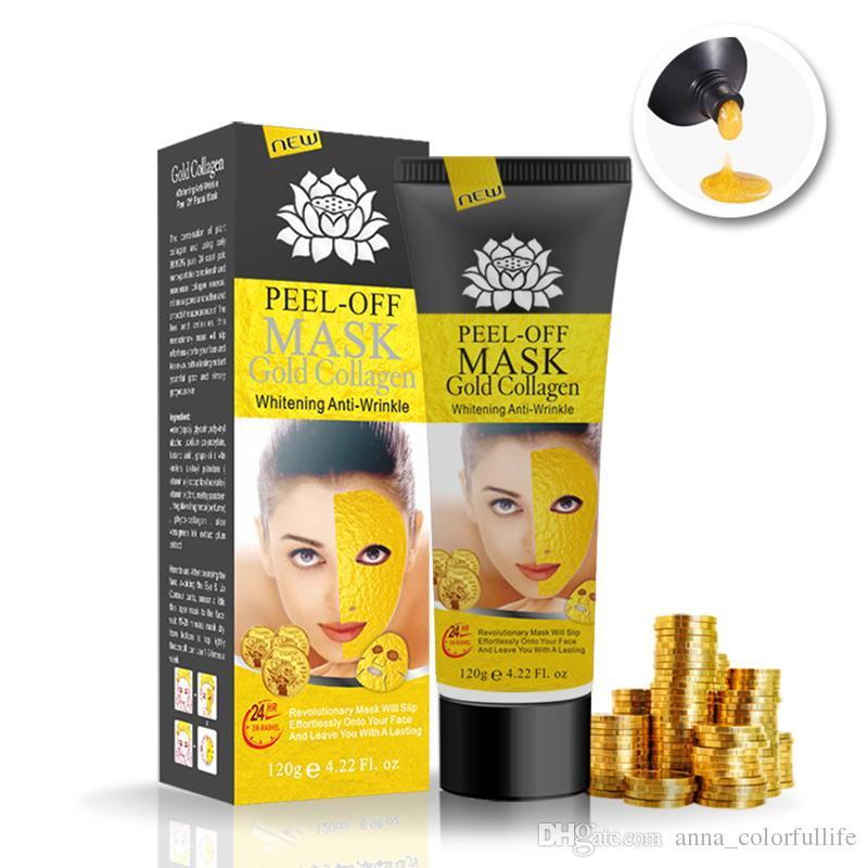 Golden Peel Off Facial Mask Black Crystal Gold Collagen Milk Blackhead Remover Face Mask Skin Facial Care Homemade Facial Masks For Oily Skin Mask For Skin ...