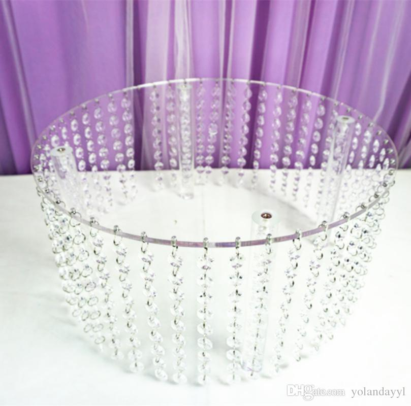 "wedding cupcake stands with the hanging acrylic crystals from top to bottom 16"" diameter 8""tall 40 cm x 20 cm"