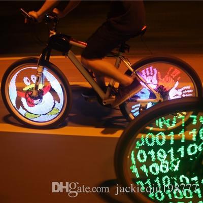 6x LED Fahrrad Speichen Lichter Felgen Reifen Beleuchtung 8 Modus DIY Bike Bekleidung