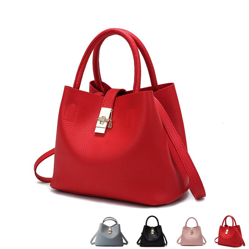 6d1bb83a38 2018 New Fashion Candy Women Bags Mobile Messenger Ladies Handbag PU  Leather High Quality Luxury Shoulder Bucket Bag Brahmin Handbags Messenger  Bags For ...