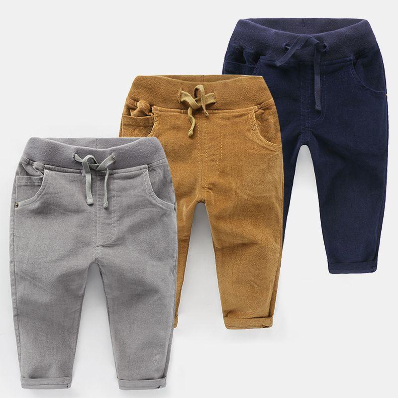 Compre MRJMSL 2018 Niños Ropa De Otoño Niños Pantalones Para Bebé Niños  Pantalones Niñas Pantalones De Pana Maciza A  35.85 Del Dejavui  0401e9960068