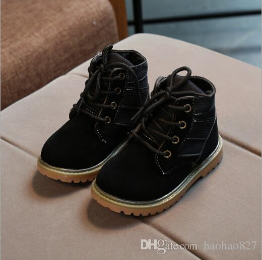 Autumn And Winter New Style Children Boots Boy Girl Retro Martin ... a6eaf27d914c