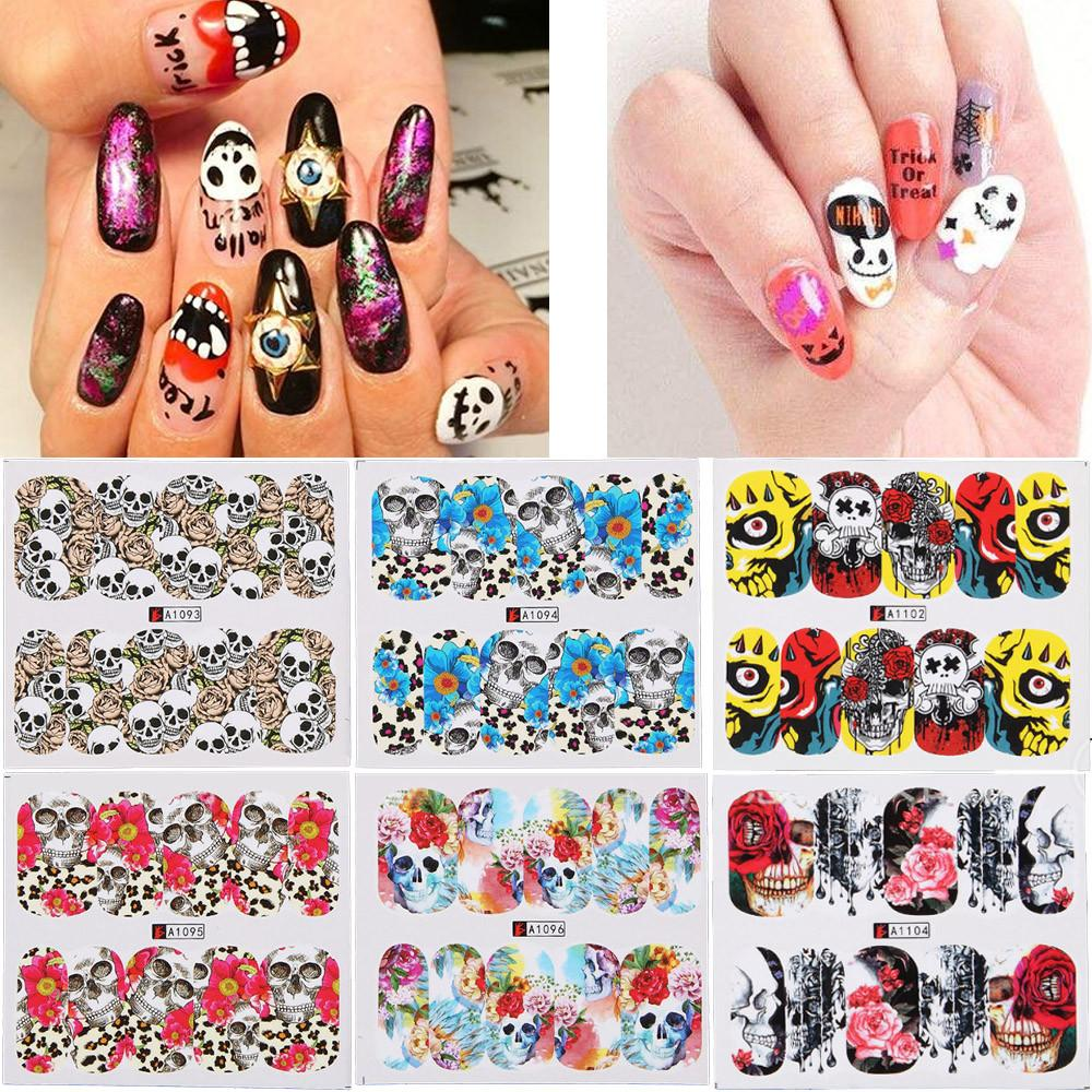 Water Decal Nail Art Nail Sticker Decorations Slider Tattoo Full