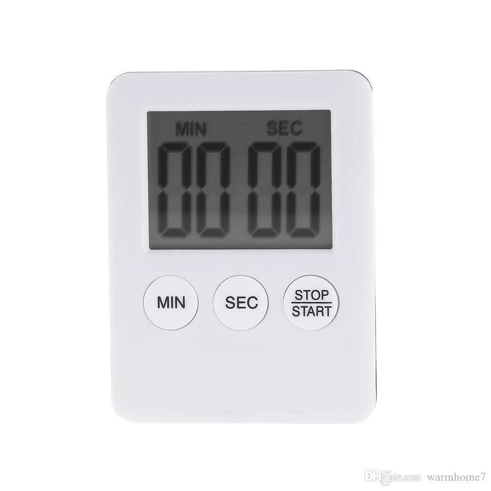 Timer da cucina digitale LCD grande magnetico originale Timer da cucina  digitale LCD multiuso con schermo LCD Conteggio allarmi forte Pentole NB