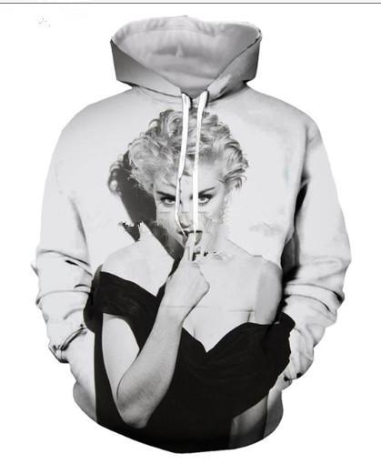 New Arrive Popular Queen Singer Madonna Men Women 3D Print Harajuku Style T  Shirt  Sweatshirts  Hoodies Casual Tops H22 Unisex Clothes Singer Madonna 3d  ... 1499f227c526
