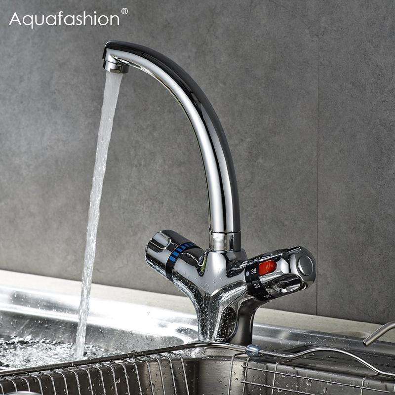 Großhandel Thermostat Wasserhahn Küche Mischbatterie Flexible ...