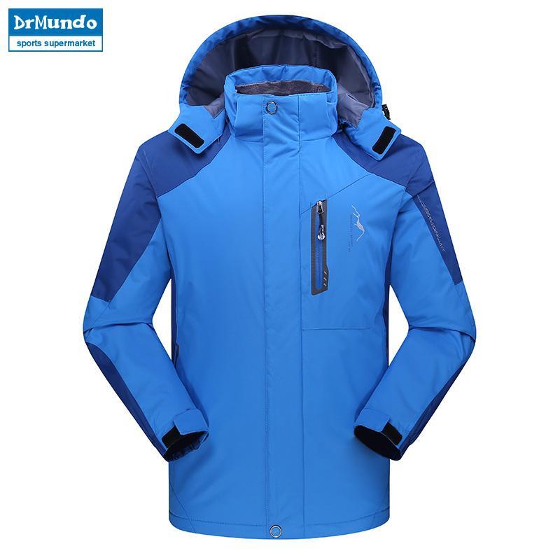 1e7920ab2e58b Outdoor Men Ski Jacket Hiking Mountain Thicken Plus Size Fleece Ski ...