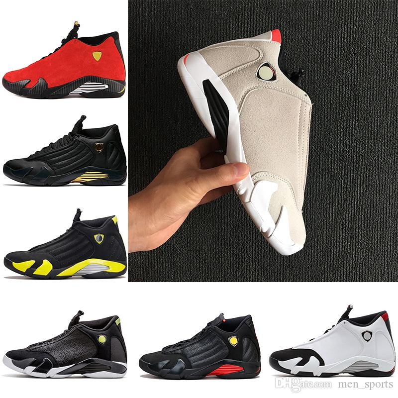1031340b59fa 14 XIV Oxidized Green Indiglo Thunder Playoffs Black Toe Red Suede 14s Men  Basketball Shoes Sneaker Last Shot Sport Shoes Designer Trainers Basketball  ...