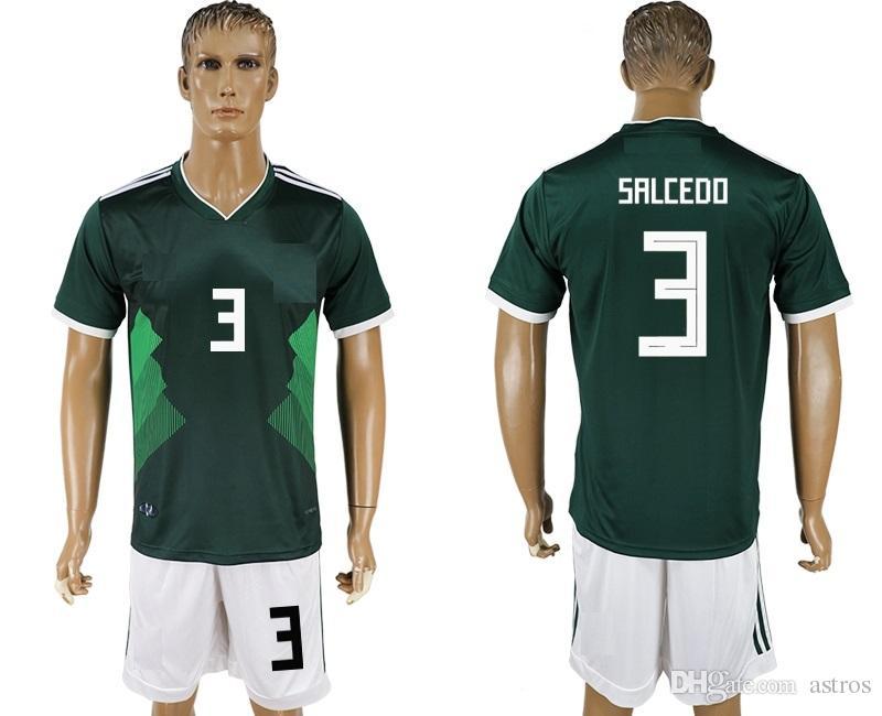 b9cfd4b8c Soccer Jersey 2018 19 World Cup Mexico SALCEDO 3 Camisetas De Futbol ...