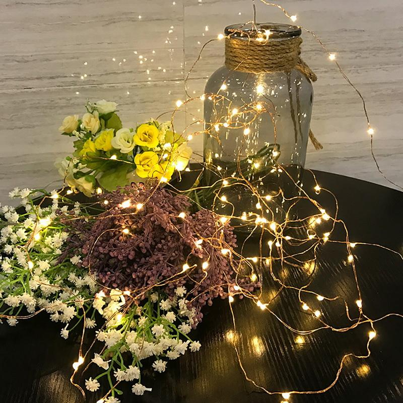 String Light Home Decor For Christmas Wedding Party Lights Garland Outdoor Not Waterproof Led Lamp 9 Colors Led String Battery