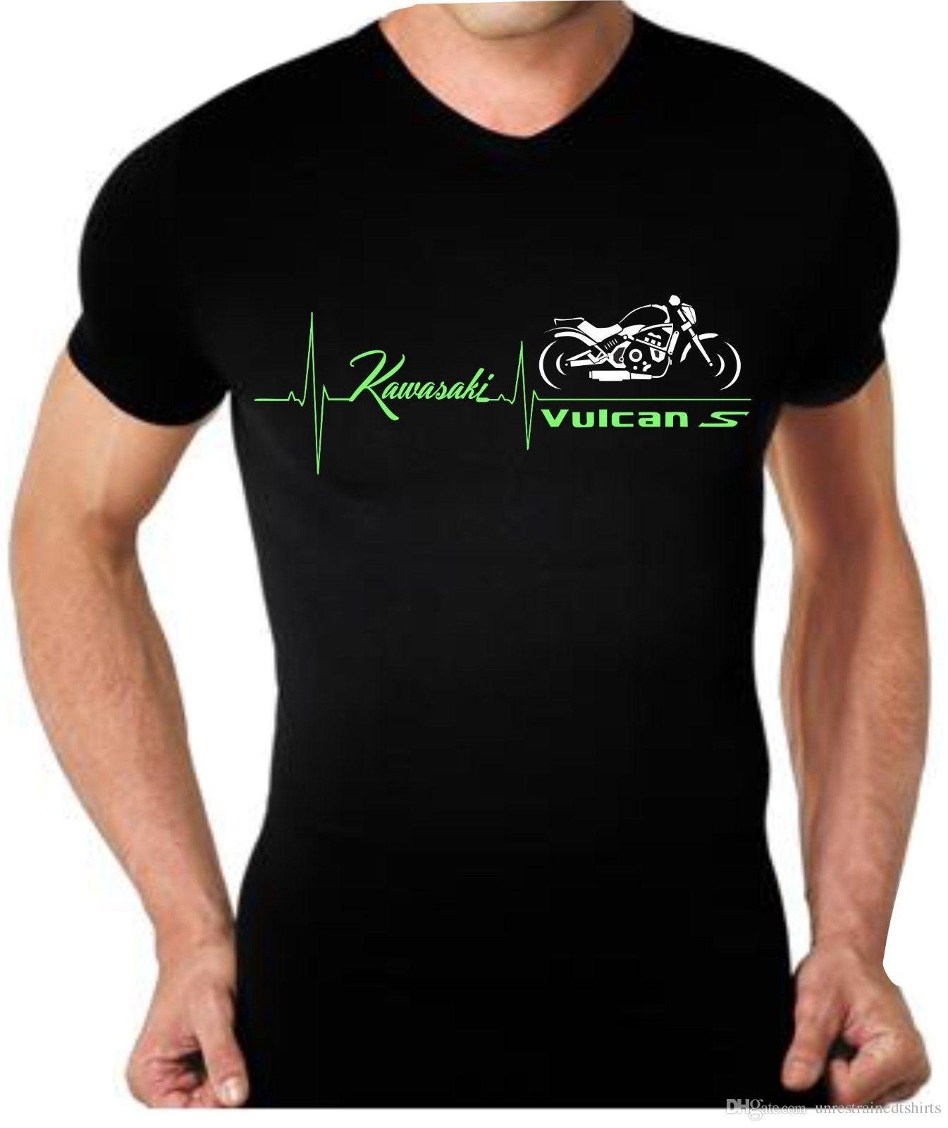 Grosshandel T Shirt Fur Motorrad Kawasaki Vulcan 650 S Battito Cuore