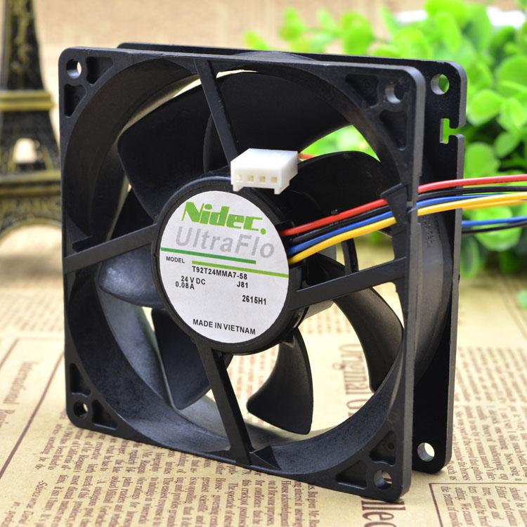 For Original Nidec T92T24MMA7-58 24V 0.08A 9025 Inverter Cooling Fan 9CM