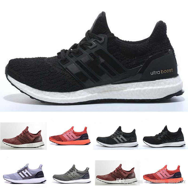 c047643e6 With Box HOT UltraBoost 3.0 Triple Black White Men s Women s Casual ...