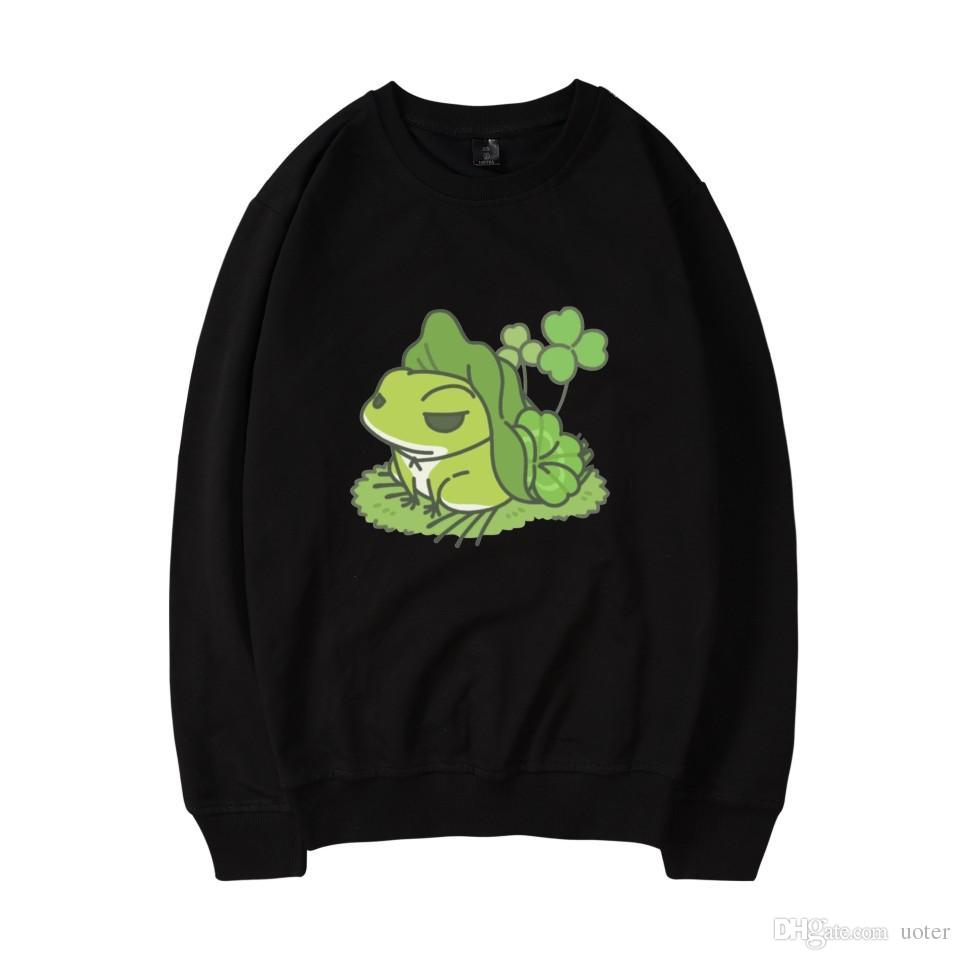 0fecf5c2051f 2019 Travel Frog Autumn Winter Dress Print Japan Game Men Women Cotton  Capless Sweatshirt Funny Clothing From Uoter, $22.66 | DHgate.Com