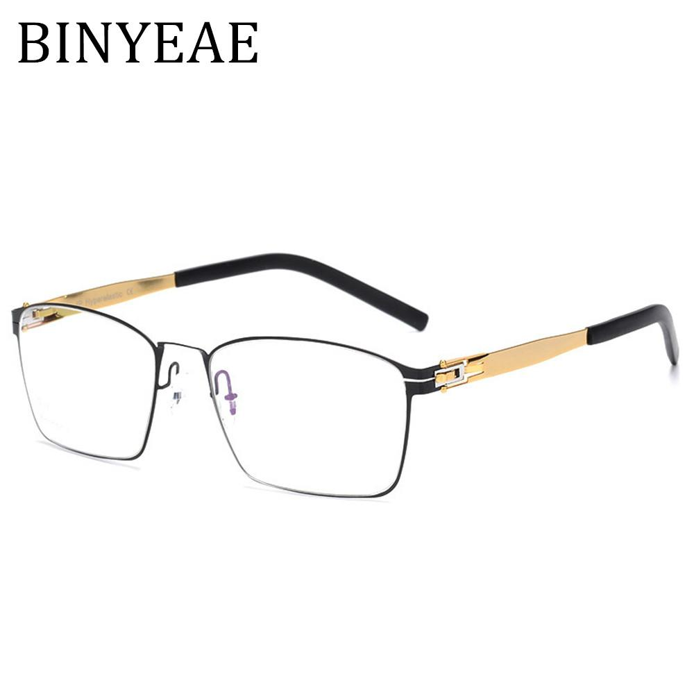 aa7e2a1b2ef 2019 BINYEAE High Quality IC Germany Unique No Screw Design Brand Eyeglasses  Frames Ultra Light Ultra Thin Men Women Myopia Spectacle From Exyingtao