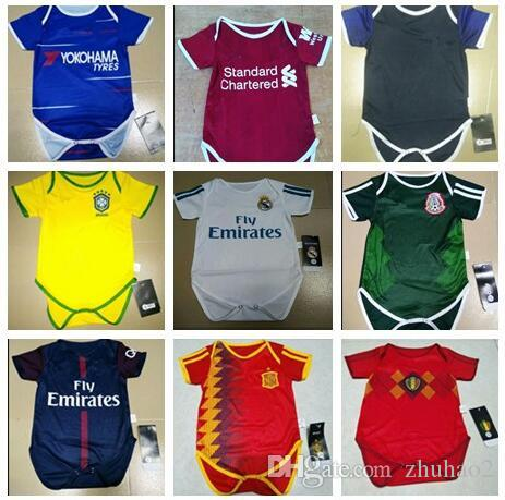 2018 19 New Real Madrid Baby Soccer Jersey Short Sleeved Baby Triangle Shirt  2018 19 Mexico Japan Argentina Colombia Baby S Soccer Shirt Canada 2019  From ... 88fa7928a2b