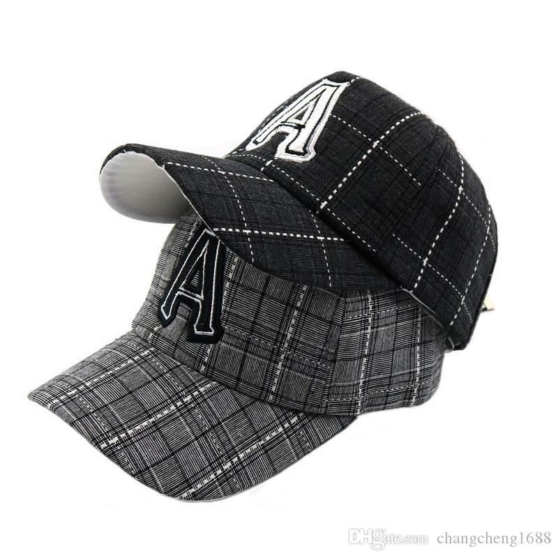 610d34c700e Unisex Cotton Baseball Hat Letter A Embroidery Child Hat Adjustable ...