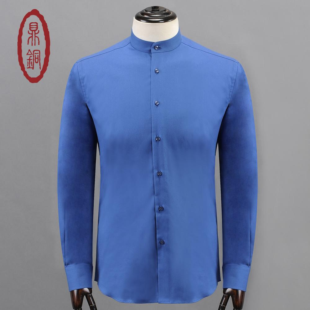 b083f95c DINGTONG 2017 Men Luxury Cashmere Cotton Shirts Brand Clothing Fit Formal  Shirt for Men Casual Button Closure Long Sleeve Shirt
