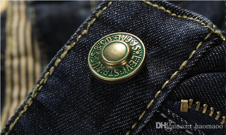 Brand Designer-Summer Mens Class Shorts Jeans Straight Denim Breathable Men's Jeans Fashion Casual Men Knee Length Jeans