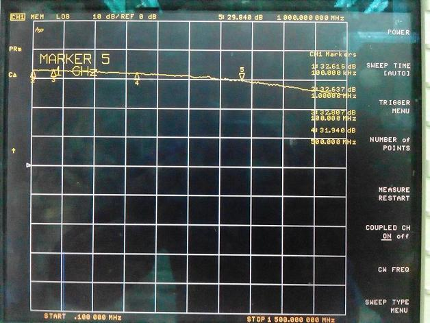 Freeshipping LNA 0.1-2000MHz Gain:30dB Broadband RF amplifier Signal Receiver for FM HF VHF / UHF Ham Radio