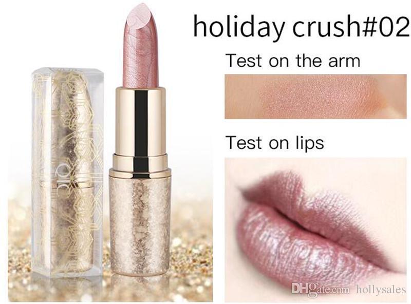 Qic водонепроницаемый матовый 6 цветов помады гладкая губная помада длительный блеск для губ косметический макияж красоты легко носить DHL бесплатная доставка