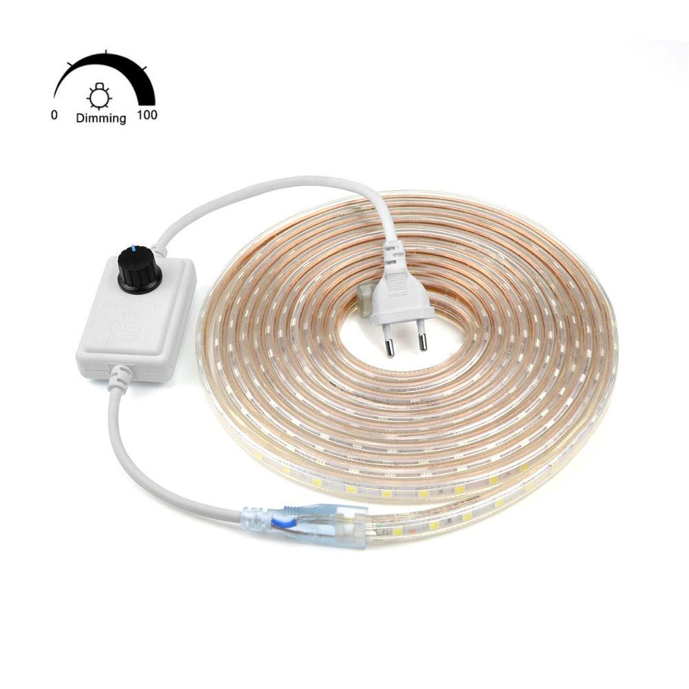 110 فولت 220 فولت عكس الضوء الصمام شرائط 10 متر 50 متر 100 متر الجهد العالي smd 5050 rgb led شرائط أضواء ماء + ir التحكم عن + امدادات الطاقة