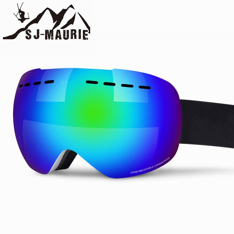 7a4411c5f5c Men Women Ski Goggles Large Spherical PC Double Layer Lens Anti Fog ...