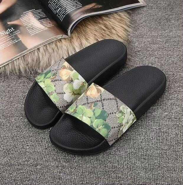 3222ec4a4c6 2018 Designer Tiger Slide Beach Designer Slippers Pursuit Satin Sandals  Women Men Brand Luxury Shoes Casual Fashion Flip Flops Slipper Glass Slipper  Blue ...