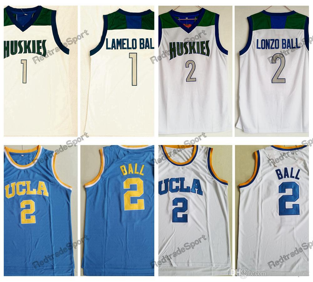 2019 Mens Vintage  1 Lamelo Ball  2 Lonzo Ball Chino Hills Huskies High  School Basketball Jerseys Cheap UCLA Bruins Lonzo Ball Stitched Shirts From  ... 8480b83bb