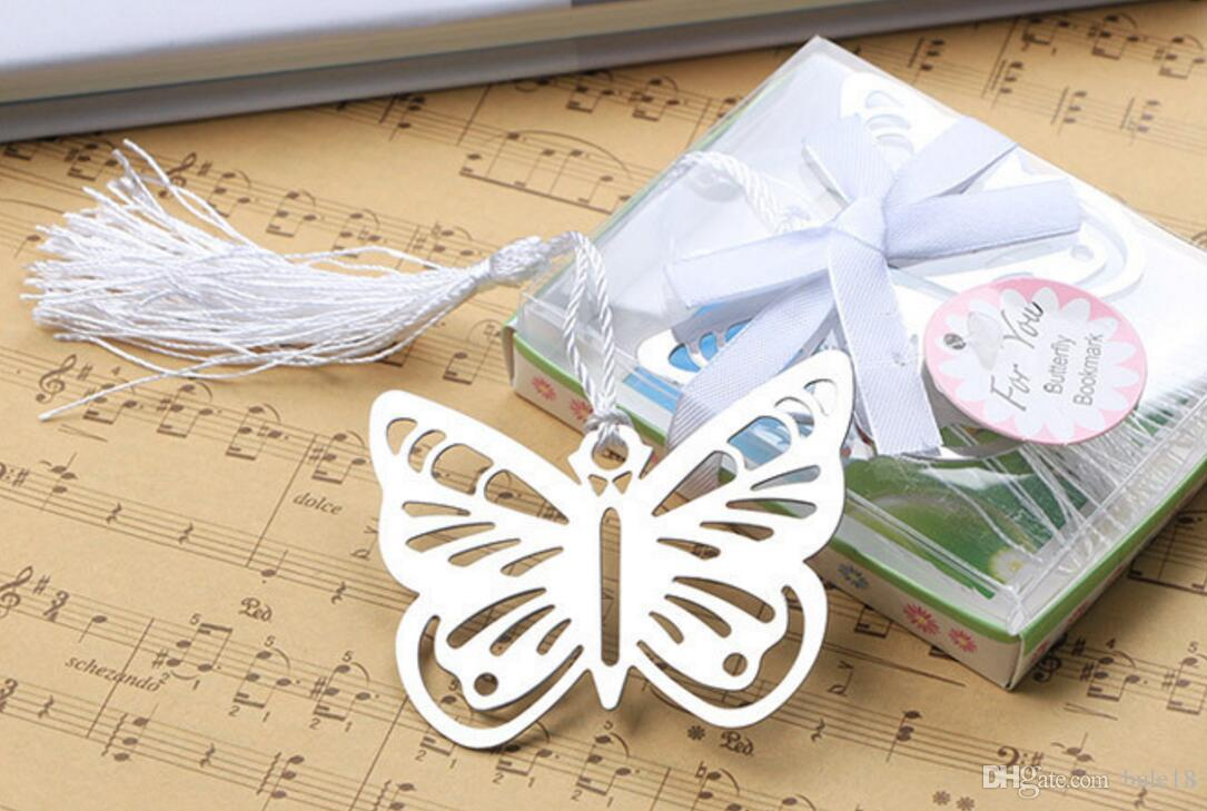 Metal Owl Bookmark Wedding Favors Snowflake gifts butterfly Bookmark Wedding supplies Party Guests gift box Presents