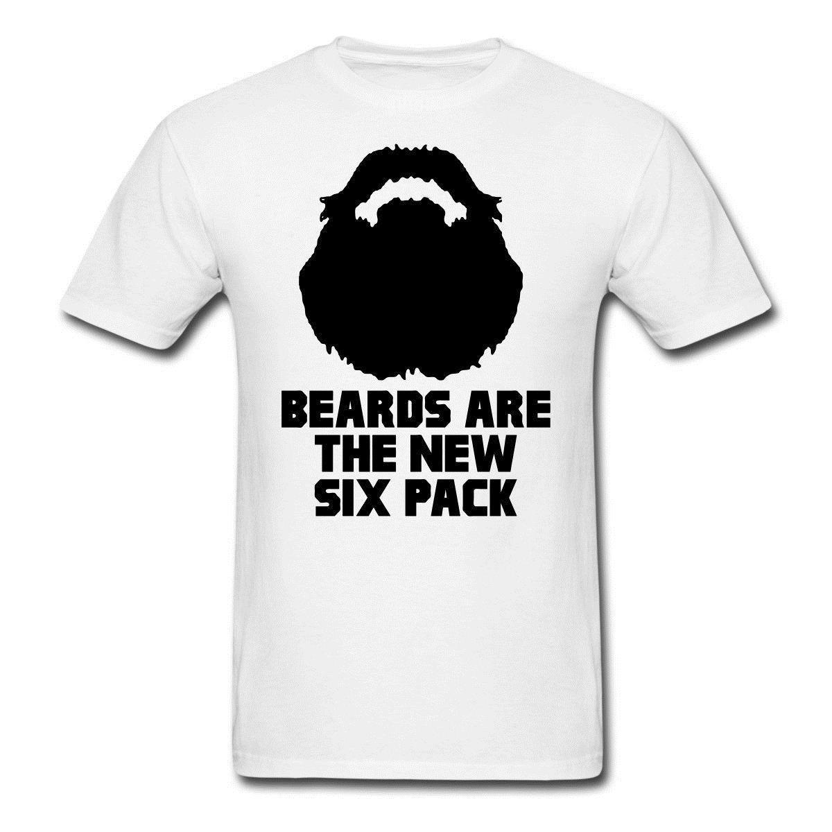 Design Own T Shirt Mens Crew Neck Short Sleeve Christmas Beards Six