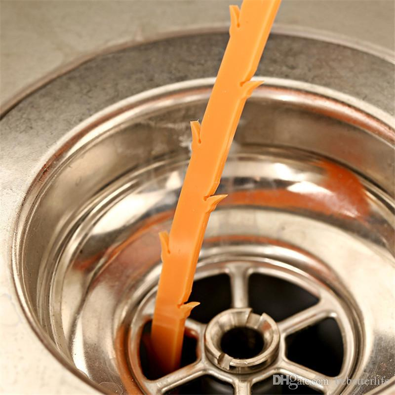 Sewer cleaning gadget hair cleaner sink anti-blocking cleaning hook sewer through the toilet dredging tools Ka Le hook